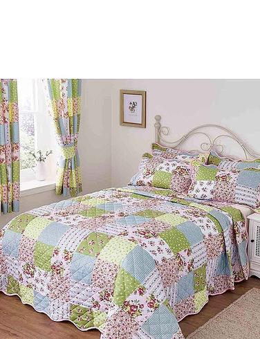Sarah Quilted Patchwork Pillowshams