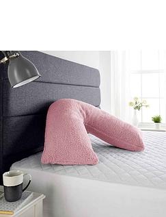 Downland Teddy Fleece V Pillow