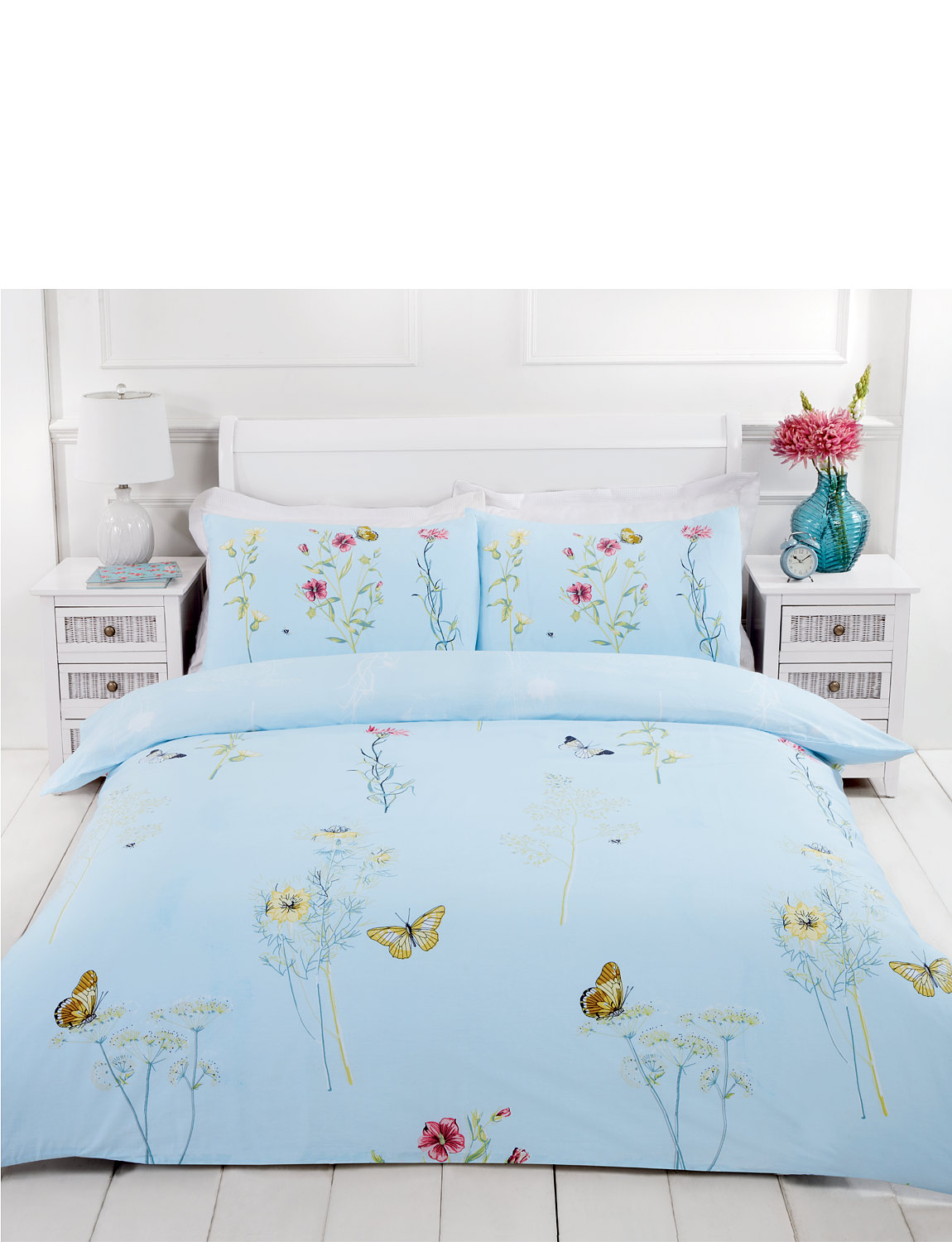 Laura Quilt Cover Set - DUCK EGG BLUE