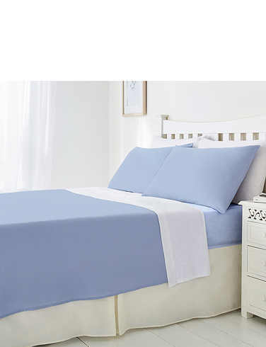 Plain Poly Cotton Fitted Sheet