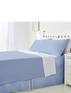 Plain Poly Cotton Fitted Valance Sheet
