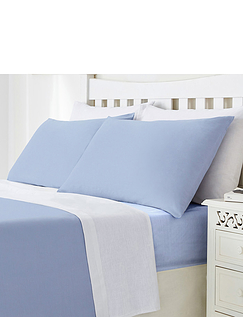 Plain Poly Cotton Pillowcases