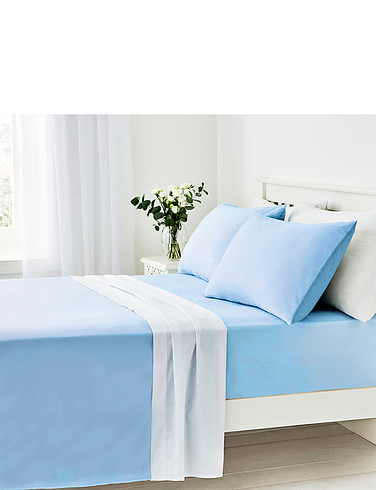 Easy Care 180 Thread Count Cotton Fitted Sheet