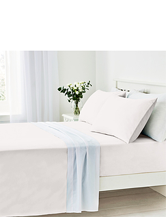 """Easy Care 180 Thread Count Cotton Fitted Sheet 12"""""""