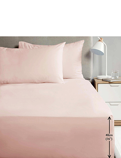 Extra Deep Percale Fitted Sheet