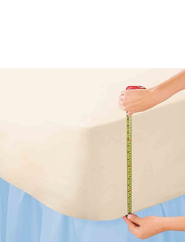 15 Inch Extra Deep Poly Cotton Fitted Sheets